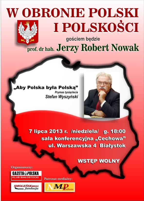 Plakat zaproszenie - Jerzy Robert Nowak mały plik