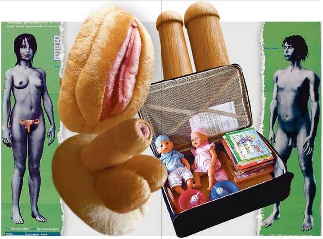 Materiały edukacyjne używane w szwajcarskich przedszkolach, tzw. sex-box Fot. Głos Wielkopolski