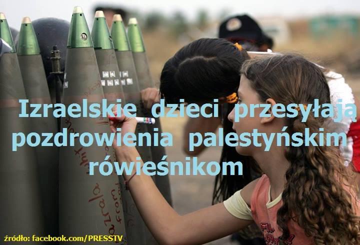 Izraelskie dzieci pozdrawiają