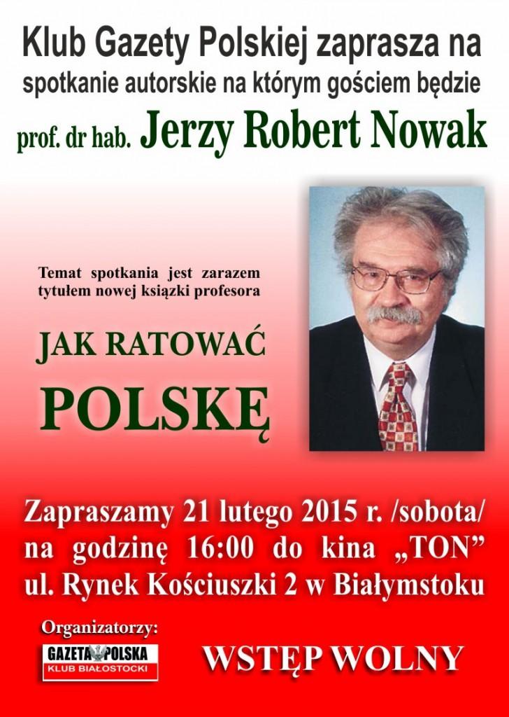 Plakat zaproszenie Nowak 2015