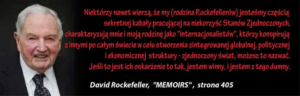 David Rockefeller - MEMOIRS cytat