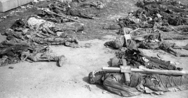 Ekshumacja zabitych i pomordowanych w kwietniu i maju 1945 r.